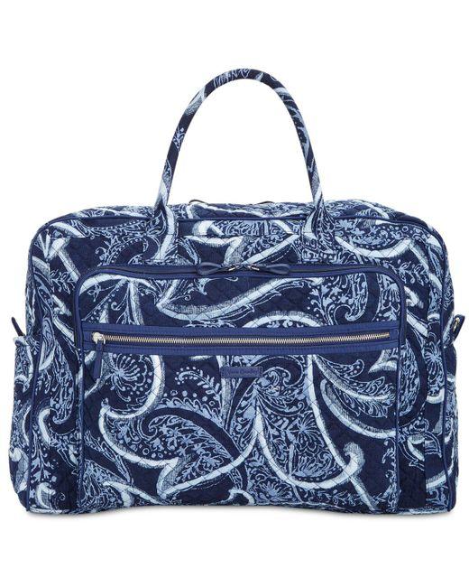 Vera Bradley - Blue Iconic Grand Weekender Bag - Lyst