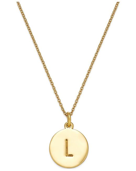 Kate Spade   Metallic 12k Gold-plated Initials Pendant Necklace   Lyst