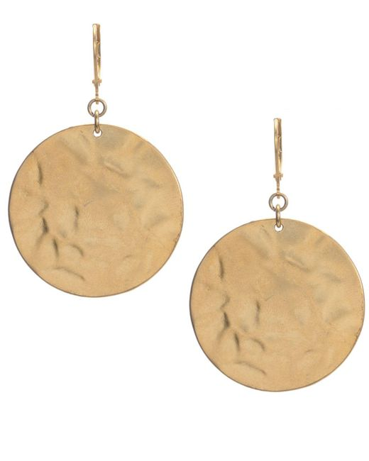 Kenneth Cole - Metallic Earrings, Textured Round Drop - Lyst