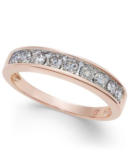Macy's - Multicolor Diamond Channel Ring In 14k Gold (1/2 Ct. T.w.) - Lyst