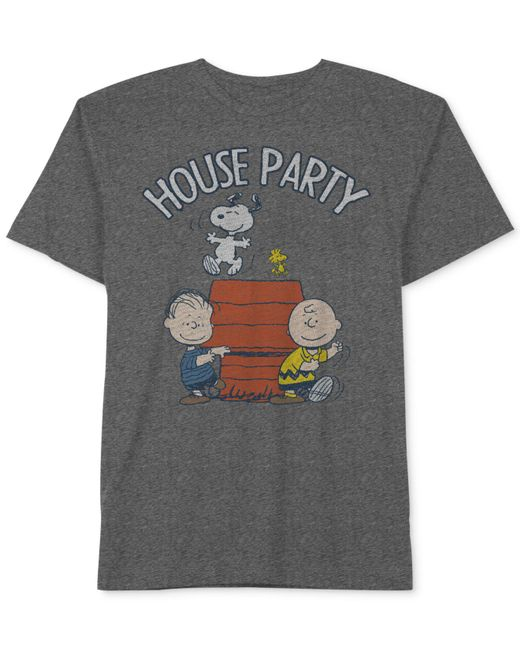 Hybrid - Gray Snoopy Graphic-print Cotton T-shirt for Men - Lyst