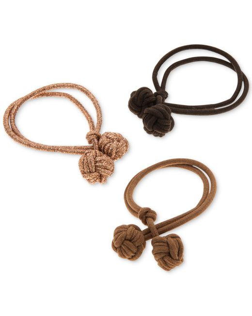 Lonna & Lilly - Natural 3-pc. Set Double-knot Ponytail Holders, Created For Macy's - Lyst