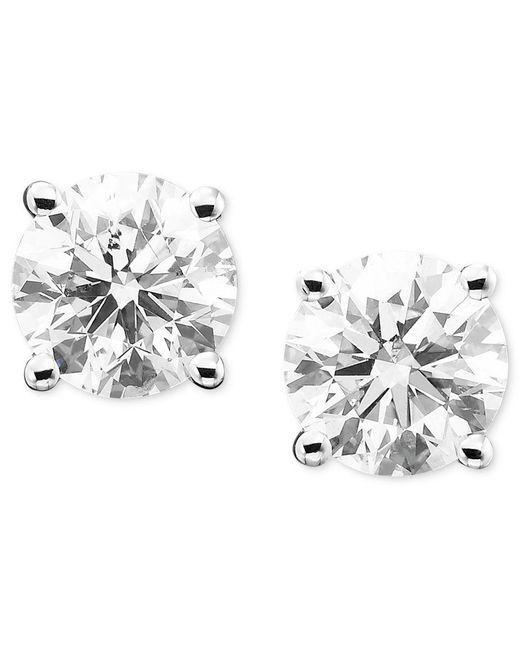 Macy's | Metallic Diamond Stud Earrings (1/3 Ct. T.w.) In 14k Gold Or White Gold | Lyst