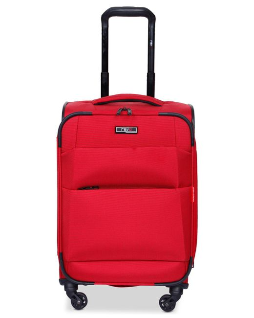 "Revo - Red Airborne 20"" Softside Spinner Suitcase - Lyst"