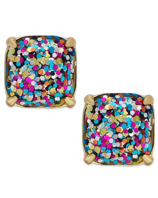 Kate Spade | Blue Small Square Studs | Lyst
