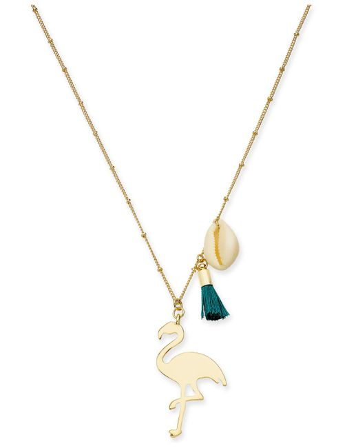 """INC International Concepts - Metallic I.n.c. Gold-tone Flamingo Pendant Necklace, 30"""" + 3"""" Extender, Created For Macy's - Lyst"""