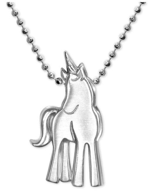 Alex Woo - Metallic Princess Unicorn Pendant Necklace In Sterling Silver - Lyst
