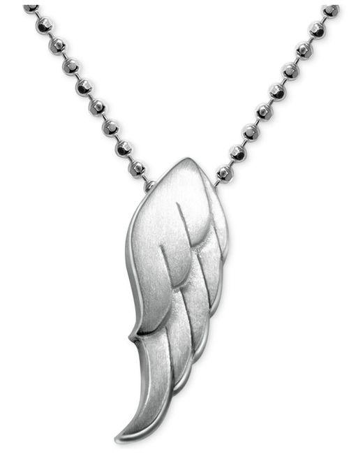 Alex Woo | Metallic Little Faith Wing Pendant In Sterling Silver | Lyst