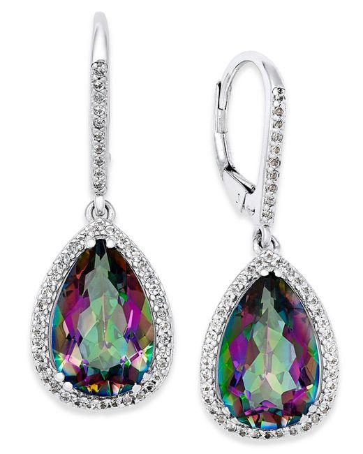 Macy's | Multicolor Mystic Topaz (9 Ct. T.w.) And White Topaz (1 Ct. T.w.) Drop Earrings In Sterling Silver | Lyst