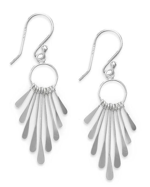 Giani Bernini - Metallic Sterling Silver Earrings, Paddle Drop Earrings - Lyst