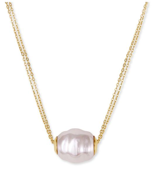 Majorica - White Vermeil Chain And Man-made Pearl Pendant Necklace - Lyst