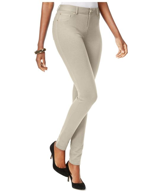 INC International Concepts | Natural Curvy Ponte Skinny Pants | Lyst