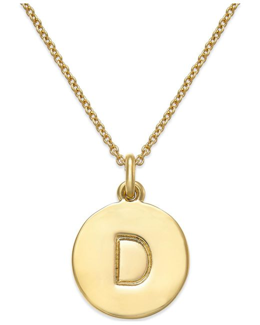 Kate Spade - Metallic 12k Gold-plated Initials Pendant Necklace - Lyst