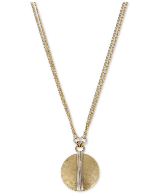 "Robert Lee Morris - Metallic Two-tone Wire-wrapped Pendant Necklace, 17"" + 3"" Extender - Lyst"
