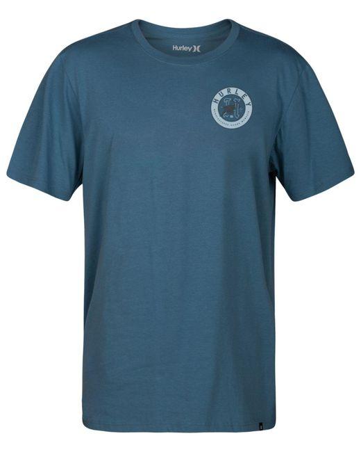 Hurley - Blue Prowler Logo-print T-shirt for Men - Lyst