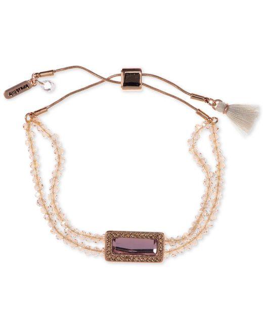 Lonna & Lilly - Metallic Gold-tone Beaded Slider Bracelet - Lyst