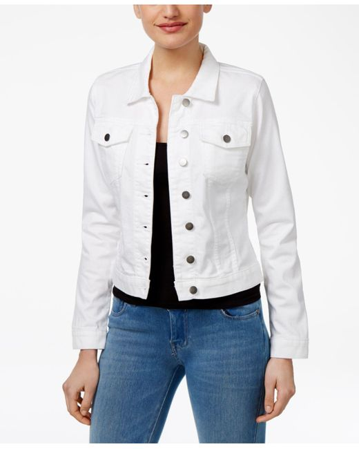 Kut From The Kloth | Helena Optic White Wash Denim Jacket | Lyst
