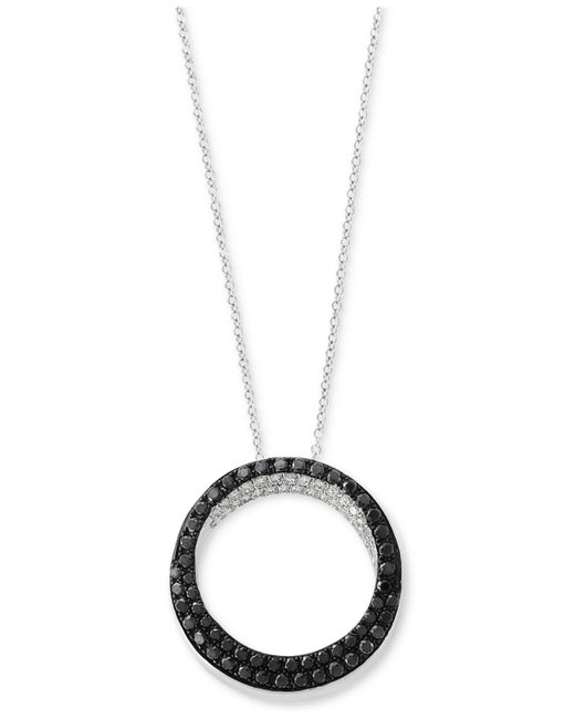 Effy Collection   Metallic Diamond Pendant Necklace (5/8 Ct. T.w.) In 14k White Gold   Lyst