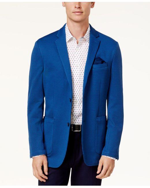 Vince Camuto | Blue Men's Slim-fit Houndstooth Blazer for Men | Lyst