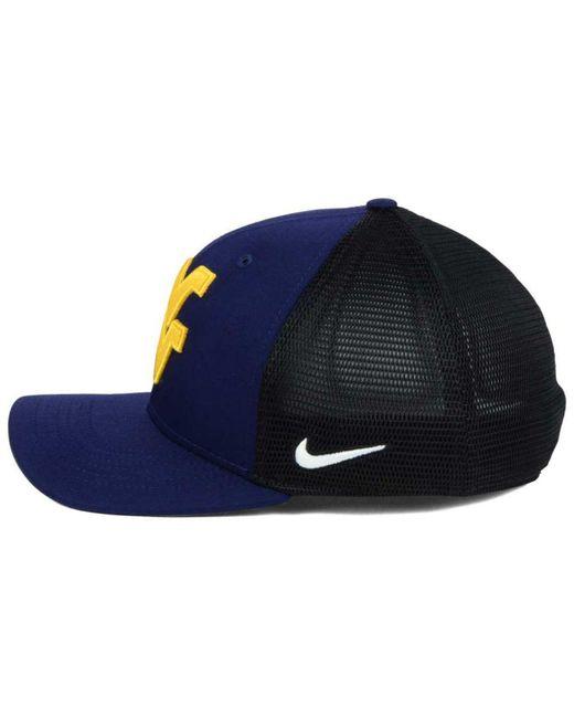 low priced bcf03 2be57 ... where to buy nike blue ncaa aero bill mesh swooshflex cap for men lyst  d5262 22813