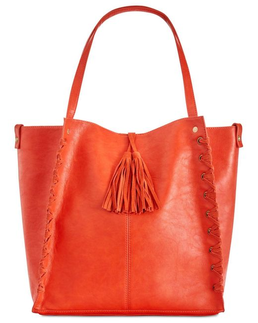 INC International Concepts   Red Venice Whipstitch Medium Tote With Removable Pouch   Lyst