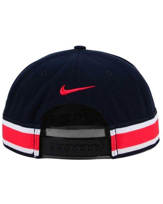 a9a40380fe7c0b ... australia nike black ohio state buckeyes true woven stripe snapback cap  for men lyst 2d96a ad86c