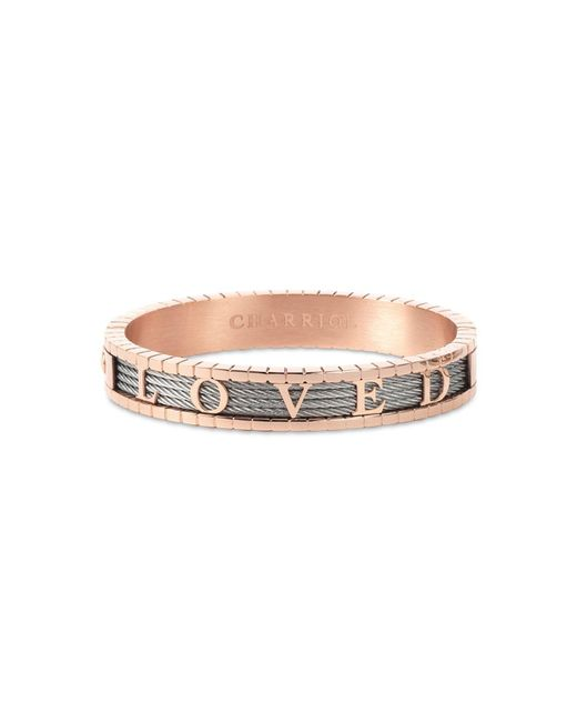 Charriol - Metallic 4ever Loved Bangle Bracelet In Pvd Stainless Steel & Rose Gold-tone - Lyst