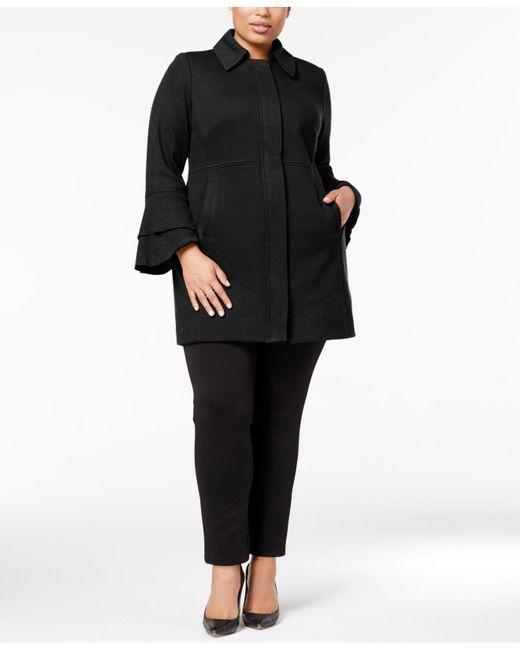 INC International Concepts - Black Plus Size Ruffle-sleeve Jacket - Lyst