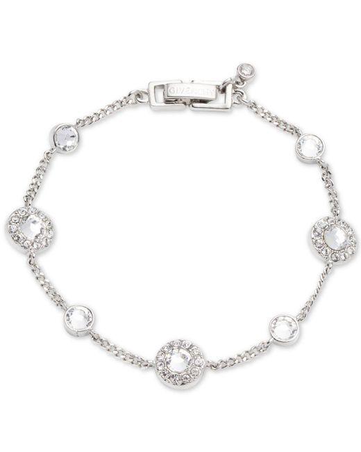 Givenchy - Metallic Silver-tone Pavé Bracelet - Lyst