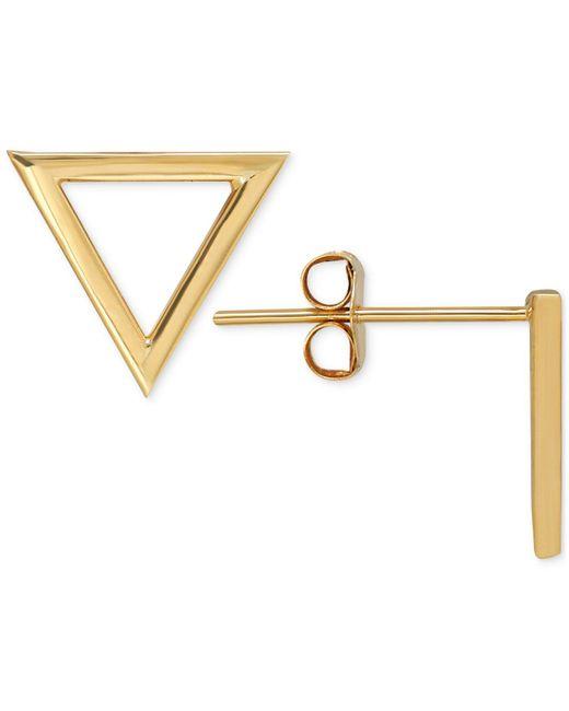 Macy's | Metallic Triangle Stud Earrings In 14k Gold | Lyst