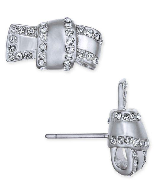 Kate Spade   Metallic Pavé Knot Stud Earrings   Lyst