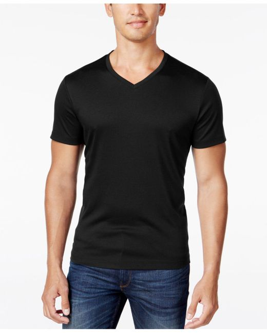 Alfani   Black Men's Soft Touch Stretch T-shirt, Only At Macy's for Men   Lyst