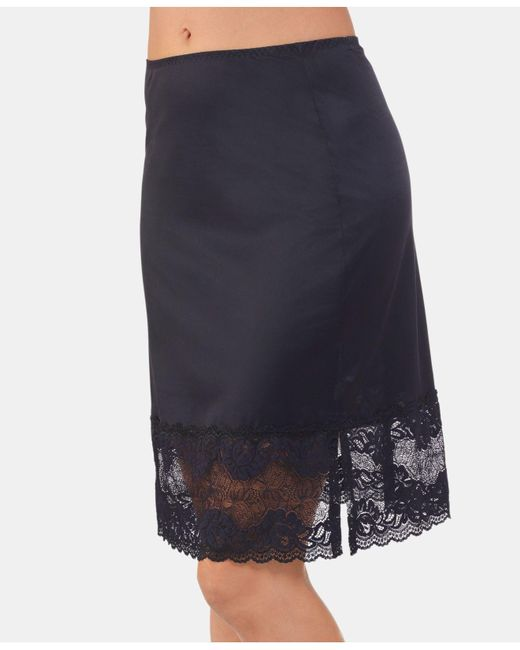 Vanity Fair - Black Lace-trim Half Slip 11741 - Lyst