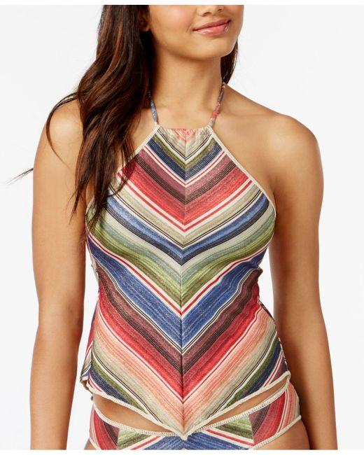 Becca   Multicolor West Village Sparkly Open-back Halter Tankini Top   Lyst