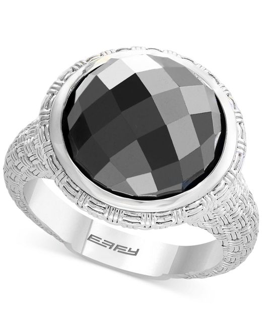 Effy Collection - Metallic Hematite (12mm) Statement Ring In Sterling Silver - Lyst