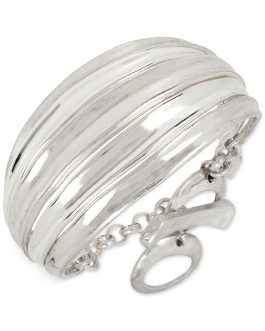 Robert Lee Morris | Metallic Silver-tone Wide Toggle Bracelet | Lyst