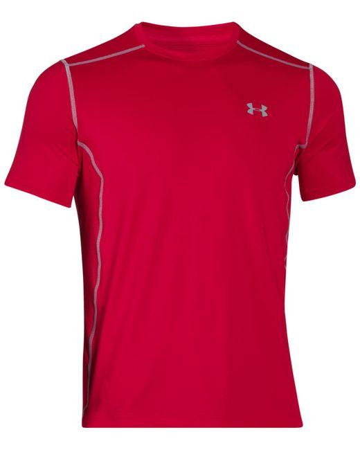 Under Armour   Red Heatgear® Raid T-shirt for Men   Lyst