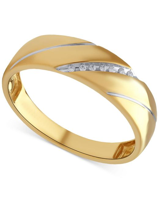 Beautiful Beginnings | Metallic Men's Diamond Accent Ring In 14k Gold for Men | Lyst