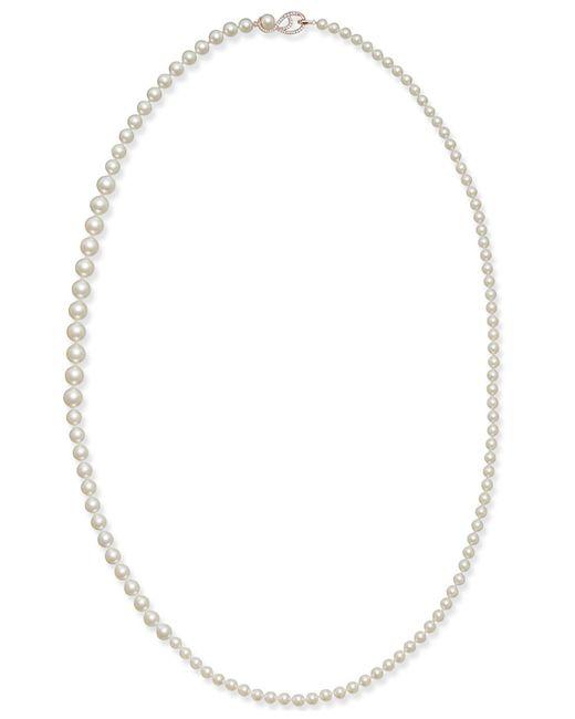 Danori | Metallic Rose Gold-tone Graduated Imitation Pearl Long Strand Necklace, Created For Macy's | Lyst