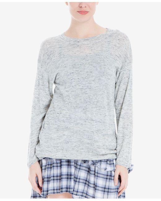 Max Studio   Gray Round-neck Sweater   Lyst