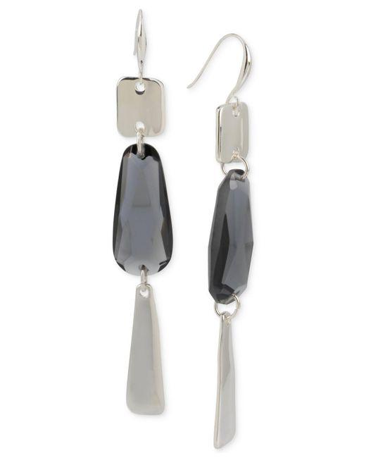 Robert Lee Morris | Black Silver-tone Jet Crystal Chandelier Earrings | Lyst