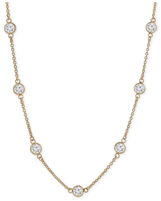 Giani Bernini - Metallic 18k Cubic Zirconia Necklace In Rose Gold-plated Sterling Silver - Lyst