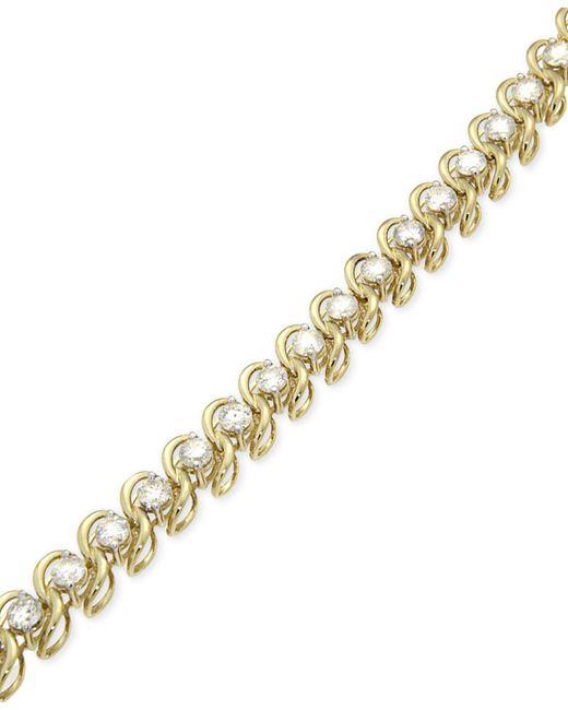 Macy's - Metallic Diamond Tennis Bracelet (5 Ct. T.w.) In 14k Gold - Lyst