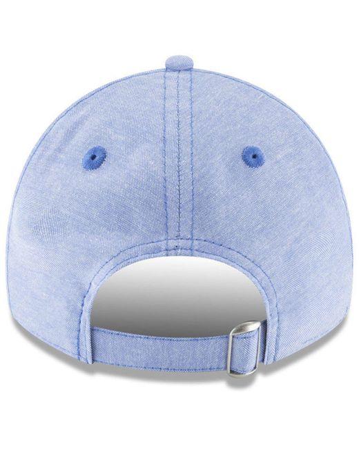 907a9d3d648 ... coupon for ktz blue texas rangers team linen 9twenty strapback cap for  men lyst 63c10 7e7de