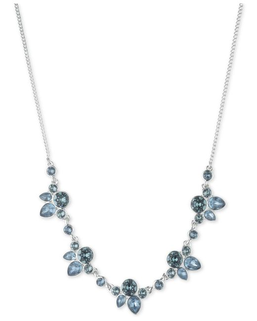 """Givenchy - Metallic Crystal & Stone Collar Necklace, 16"""" + 3"""" Extender - Lyst"""