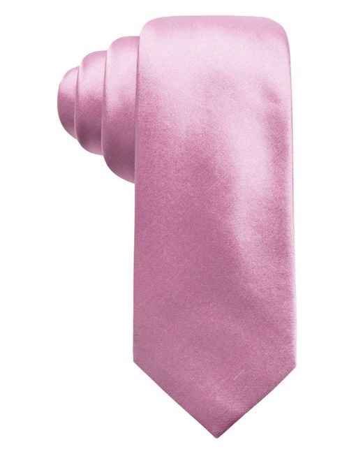 Alfani - Pink Solid Silk Slim Tie, Created For Macy's for Men - Lyst