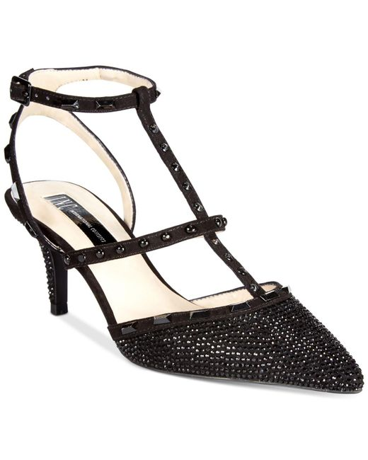 INC International Concepts | Black Carma Studded Pumps | Lyst
