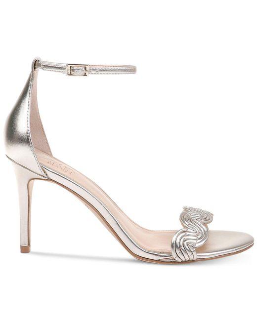 b32622a65 ... Badgley Mischka - Metallic Doria Evening Sandals - Lyst ...