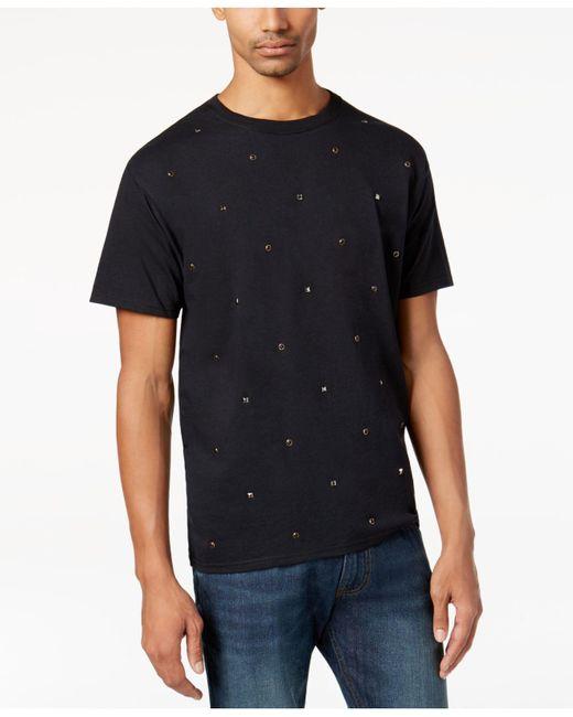 Sean John   Black Men's Multi-studded T-shirt for Men   Lyst