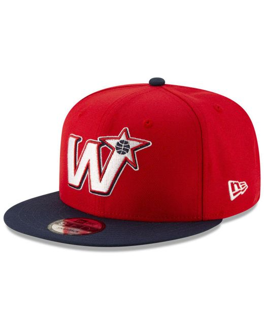 b536e6252fe60 ... coupon for ktz red washington wizards light city combo 9fifty snapback  cap for men lyst c3aec